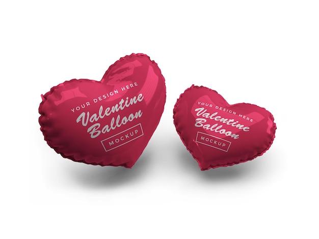 Валентина сердце воздушный шар макет дизайн изолированные