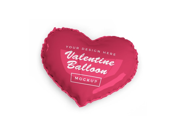 Valentine heart balloon mockup design