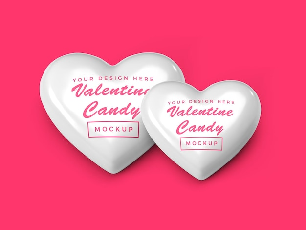 발렌타인 하트 사탕 모형 디자인