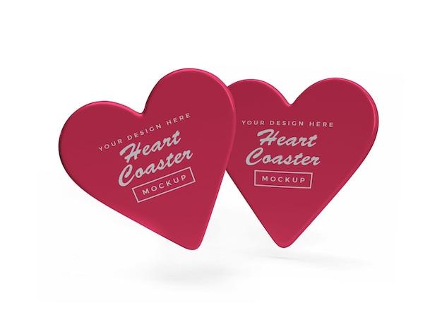 발렌타인 하트 코스터 모형 디자인