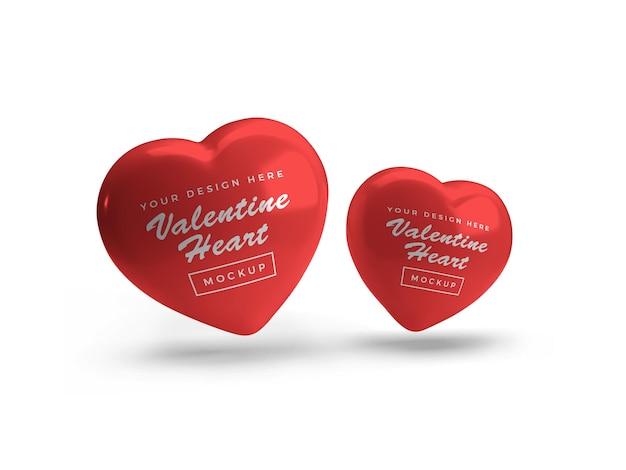 Валентина сердце символ макет дизайн изолированные