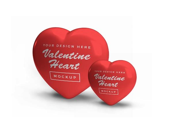 Дизайн макета символа сердца валентина