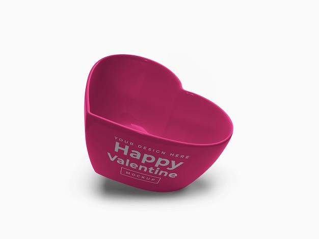 Валентина любовь сердце контейнер дизайн макета изолированные