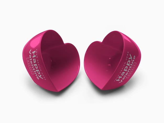 Валентина любовь сердце контейнер дизайн мокапа
