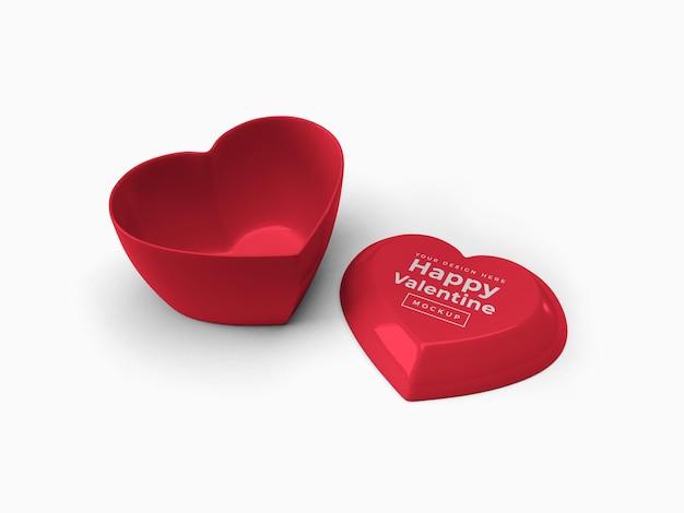 절연 뚜껑 이랑 디자인 발렌타인 사랑 심장 컨테이너