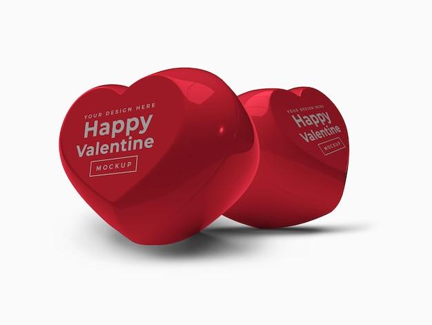 Контейнер valentine love heart с крышкой, макет