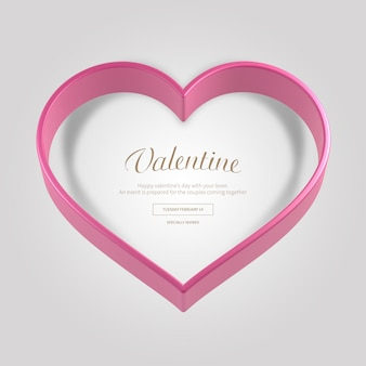 Valentine pink heartt banner