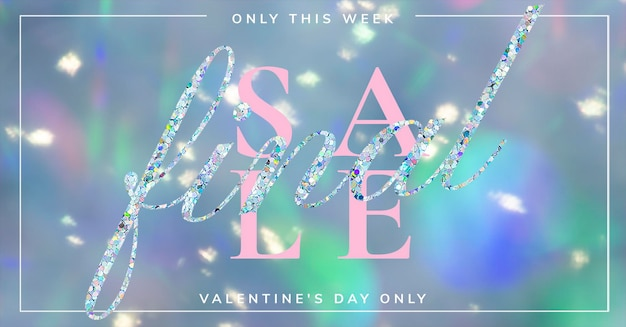 Annunci di social media modificabili psd del modello di vendita finale di san valentino