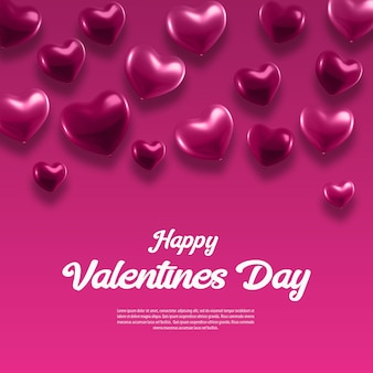 Valentine's day background with hearts