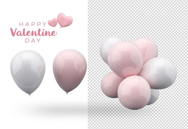 Дизайн макета украшения воздушного шара на день святого валентина