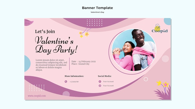 사진과 함께 발렌타인 배너 서식 파일