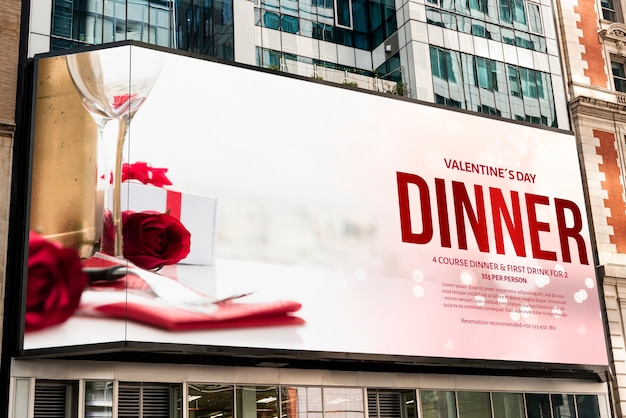 Valentine's day billboard mock-up