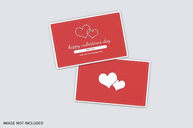 バレンタインデーカードのモックアップ