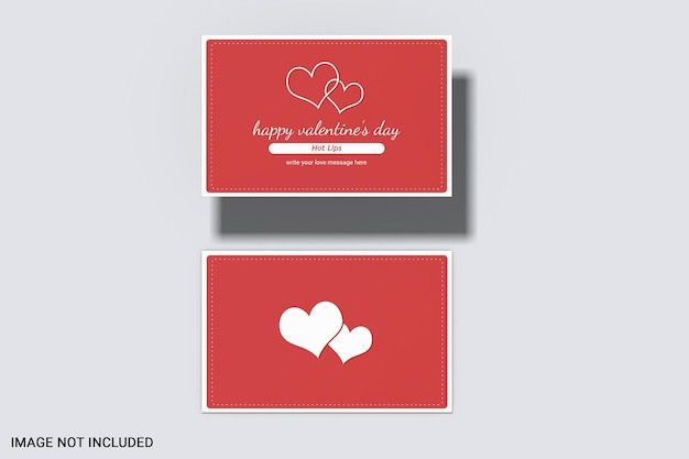 Valentine's day card mockup