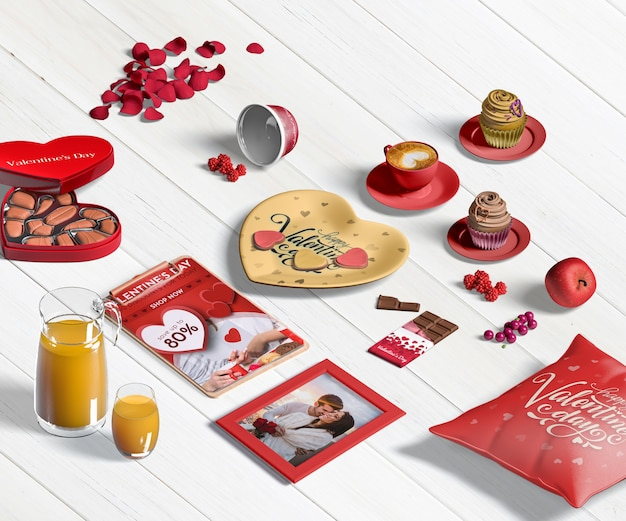 Valentine's day concept mock-up