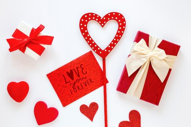 Valentine's day concept mock-up