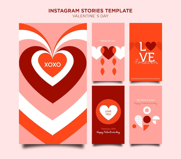 Valentine's day instagram stories template