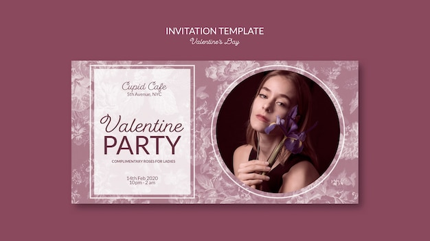 Valentine's day inviation template