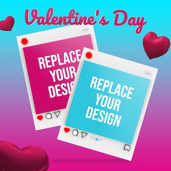 Valentine's day mockup design