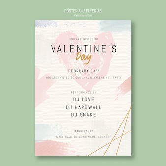 Плакат с приглашением на день святого валентина