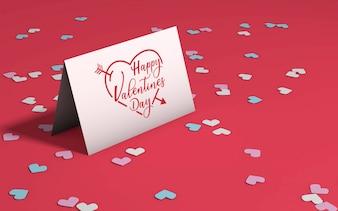 Valentine's day party mockup