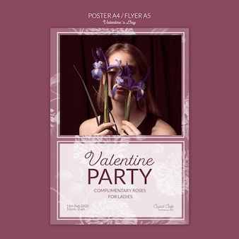 Valentine's day poster concept mock-up