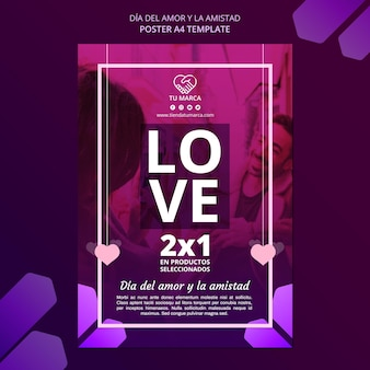 Valentine's day poster stationery template