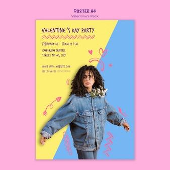 Modello di poster di san valentino