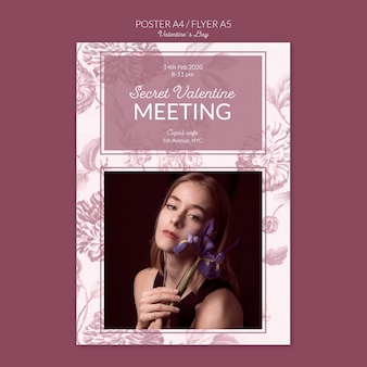 Valentine's day secret meeting poster