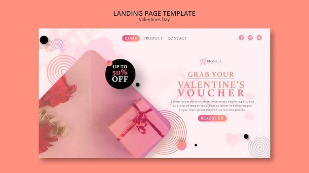 Веб-шаблон на день святого валентина с фото Бесплатные Psd