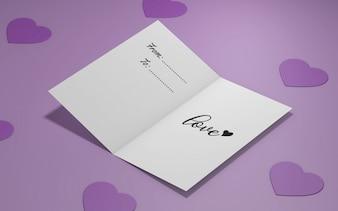 Valentine's party invitation mockup