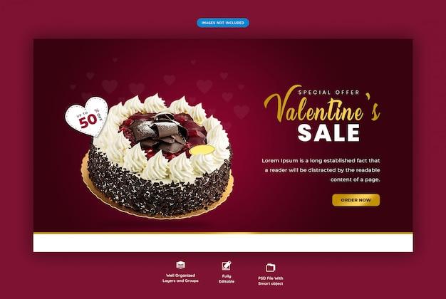 Valentine's sale banner template