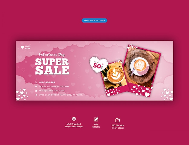 Valentine's sale facebook cover banner