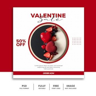 Valentine sale post for social media