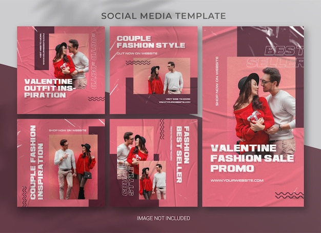 Valentine social media pack bundle template