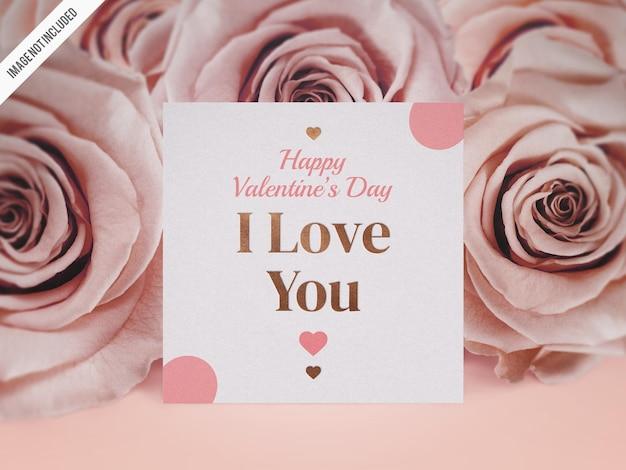 Valentines day card mockup