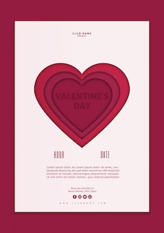 Valentines day cover mockup