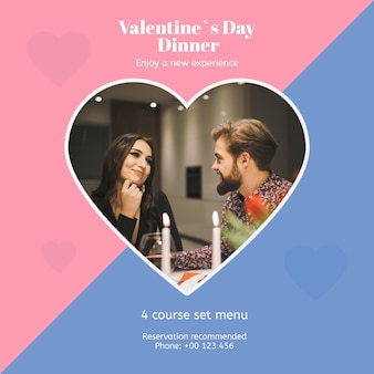 Valentines day mockup with image