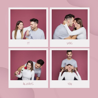 Valentines day mockup with images