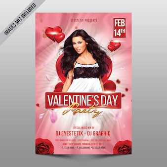 Valentines day party mockup