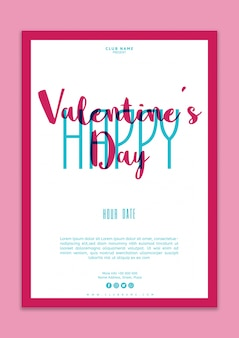 Valentines day poster mockup