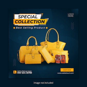 Vaniti bag social media instagram post banner template