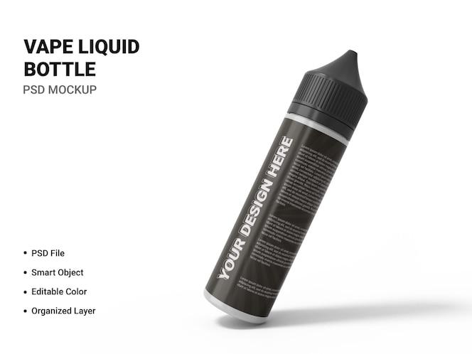 vape liquid bottle mockup design isolated