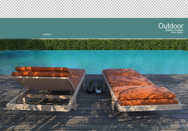 Variety of outdoor furniture