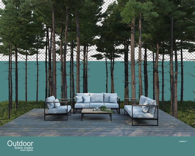 A variety of outdoor furniture Premium Psd