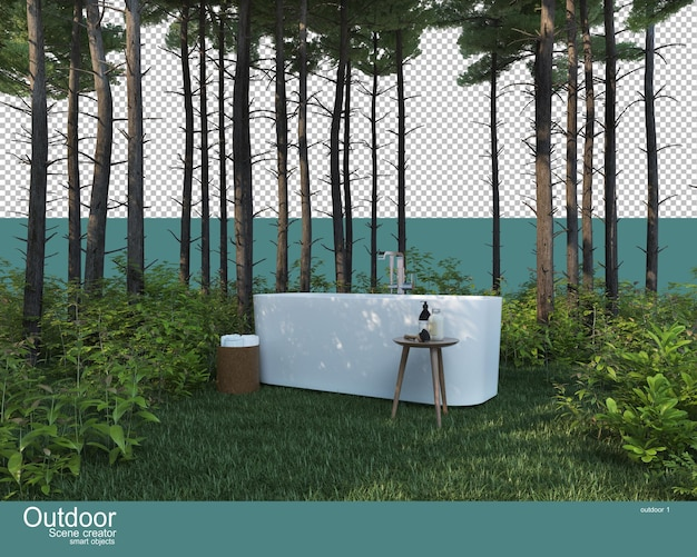 A variety of outdoor furniture