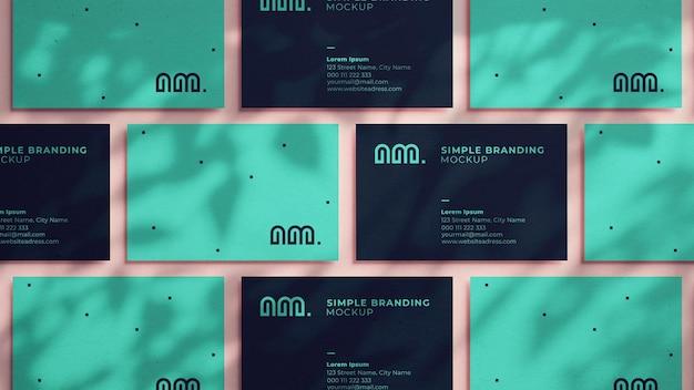 Various business card mockup in realistic 3d rendering