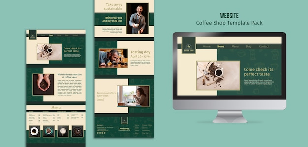 Various coffee shop banner template pack