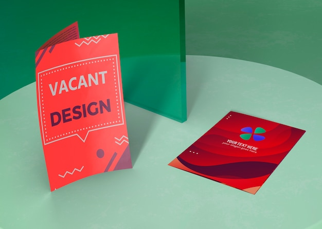 Various designs for brand company business mock-up paper