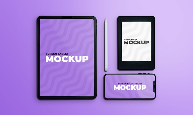 Various devices screen mockup